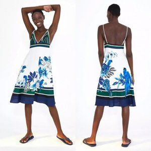 Farm Rio Lazule Parrot Cami Midi Dress Size XS